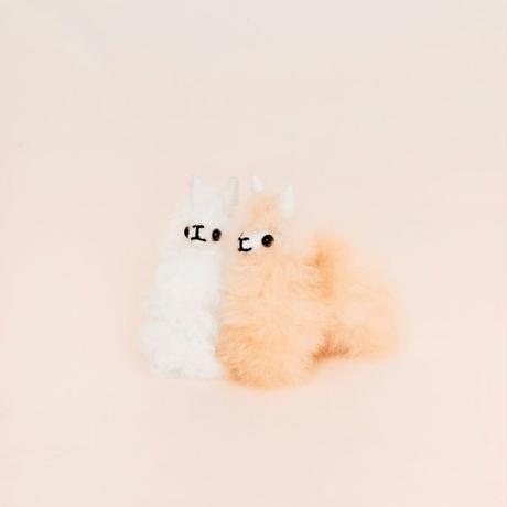 ふわふわアルパカ人形ミニ_LN012