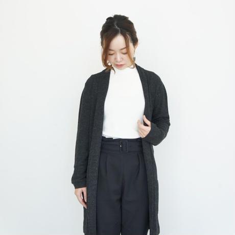 【軽くて暖かい】ロイヤルアルパカシルク ロングカーディガン チャコールグレー_CD007-DG