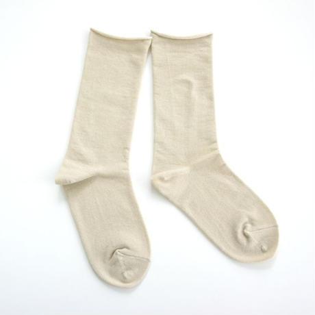 【ギフトに人気】ペルーコットンのゴムなし靴下(ユニセックス) ベージュ_SO005-BE