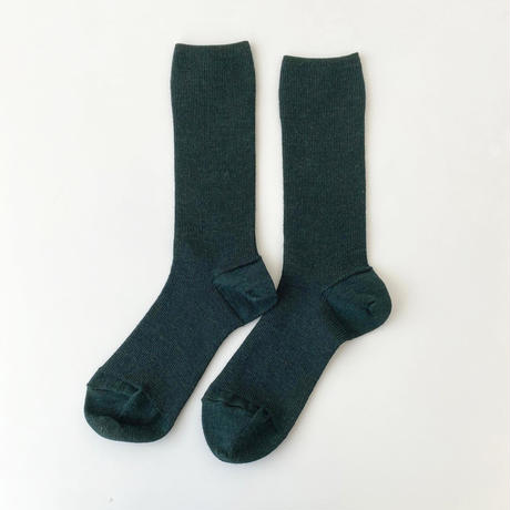 【リニューアル!】アルパカのゴムなししめつけない靴下/ ダークグリーン_SO001-GR