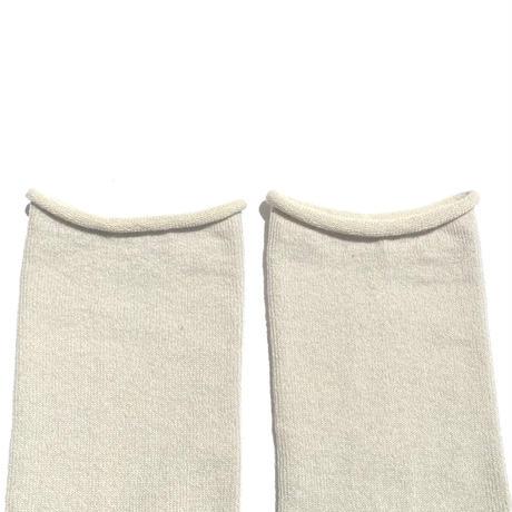 【ギフトに人気】ペルーコットンのゴムなし靴下(ユニセックス) オートミール_SO005-OM