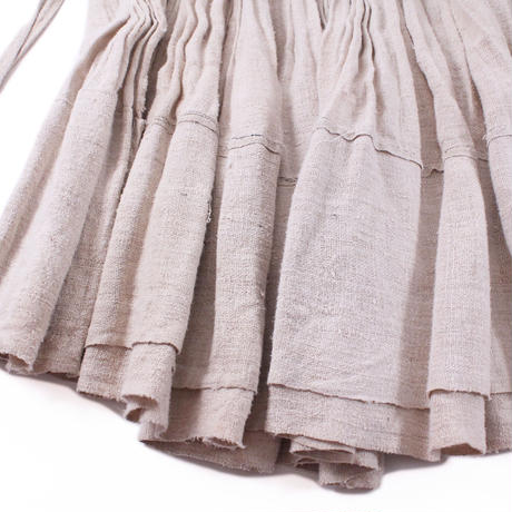 Long wrap pleats skirt【White】