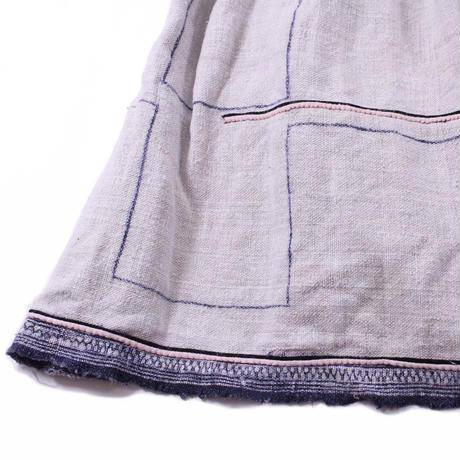 Long wrap pleats skirt【Batik②】