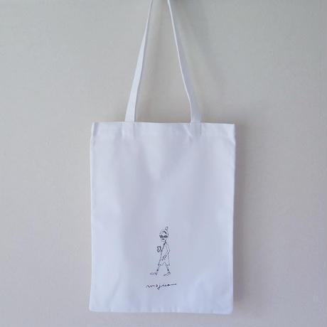 tote bag  - walking lady -