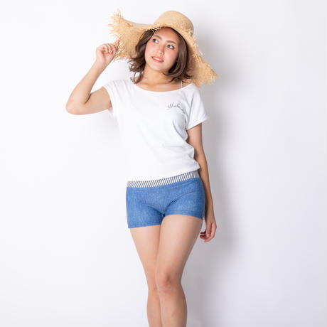 Tシャツ1体型水着 【22W04-91S】Exceed T-shirts with Hot pants