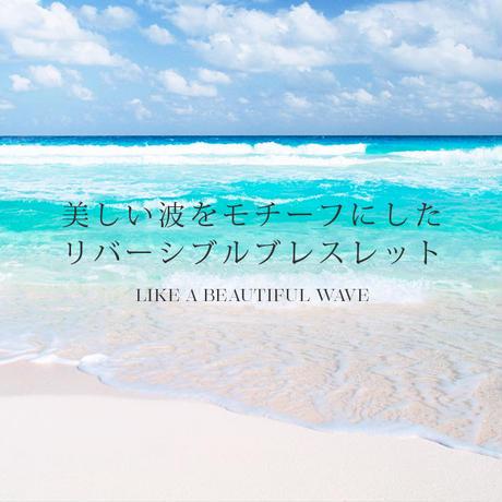 ハワイの美しい波をモチーフにした/ハワイアンジュエリー /ウェーブブレスレット