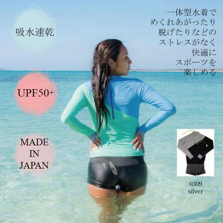 タートルネックパンツ1体型水着 【25W05-81S】MAKA-HOU Turtle neck with Hot Pants