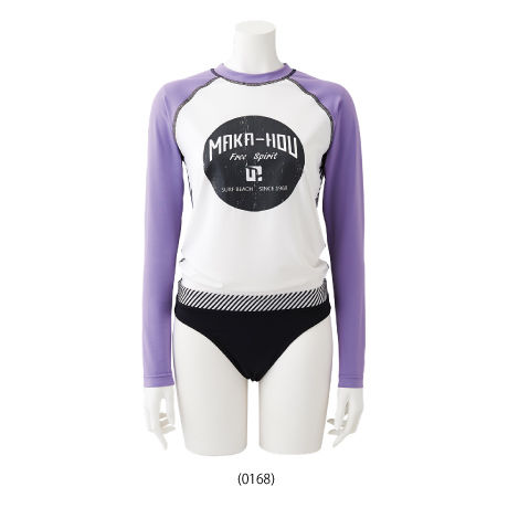 Rash Guard with Bikini Pants  【21W05/41S】         UVカットUPF50+                            吸水速乾