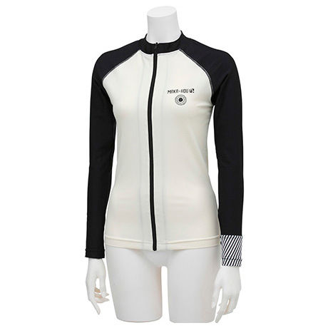 前ZIPラッシュガード 【11W07-71S】MAKA-HOU/  Front Zip-Rash Guard