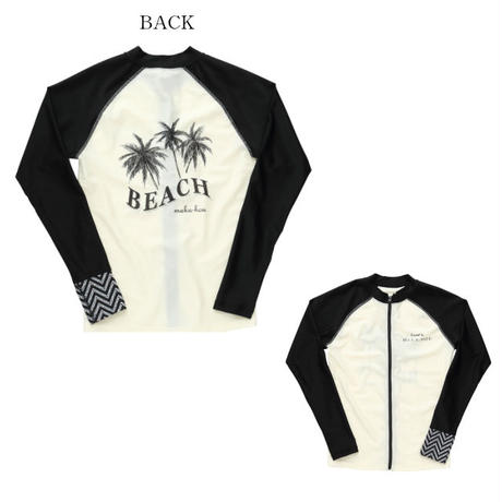 前ZIPラッシュガード 【11W13-02S】 MAKA-HOU/  Front Zip-Rash Guard