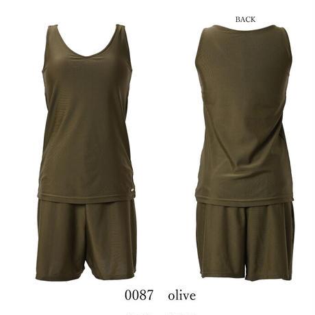 タンクトップ×ショートパンツセットアップ水着 【1451W02-12S】/MAKA-HOU  Tank top&Shortpants