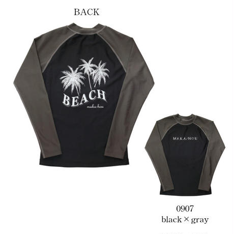ラッシュガード 【11W15-91S】MAKA-HOU/ Rash Guard Back print
