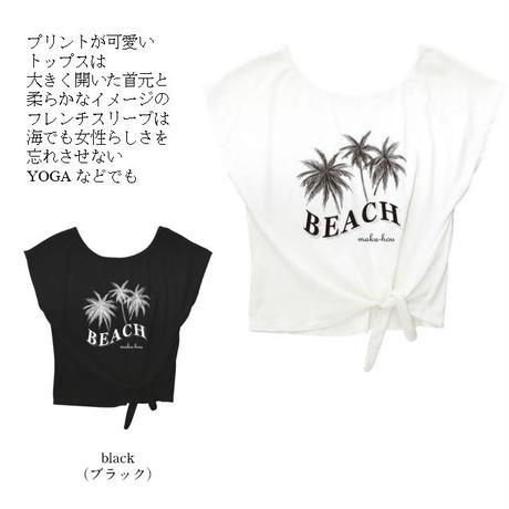 裾しぼりTシャツ 【12W06-02S】MAKA-HOU/ T-shirtsヤシのキ