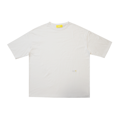 【 Back 】 MAKEY SMILEY [ Yellow ] / Big silhouette T-shirts [ White ]