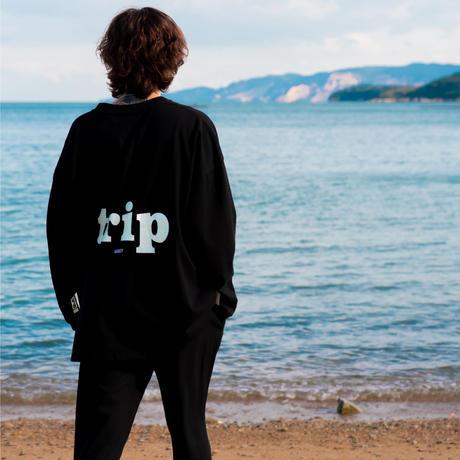 """Hi TiME Hi TRiP"" Big silhouette LS T-shirts"