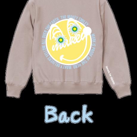 "【数量限定予約販売】""MAKEY SMILEY"" Sweatshirts【Smoky Pink】"