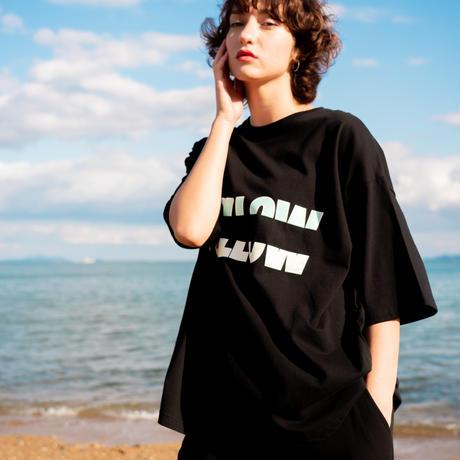 "【Mellow Green】""MELLOW YELLOW"" Big silhouette T-shirts"