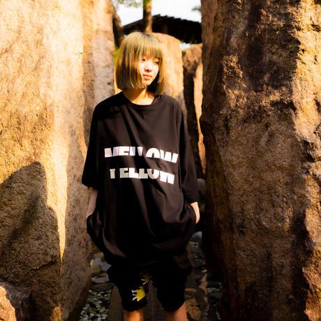 "【Mellow Pink】""MELLOW YELLOW"" Big silhouette T-shirts"