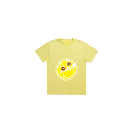 """Yellow """"MAKEY SMILEY"""" Kids T-shirt / Yellow【受注生産】"""