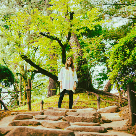 """TOGENKYO""【Pastel】Big silhouette Tie dye T-shirts"