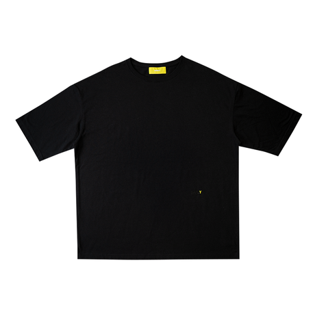【 Back 】 MAKEY SMILEY [ Yellow ] / Big silhouette T-shirts [ Black ]