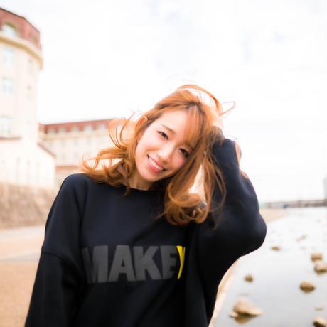 """BLACK """"MAKEY LOGO"""" Big silhouette Sweatshirt【Black】"""