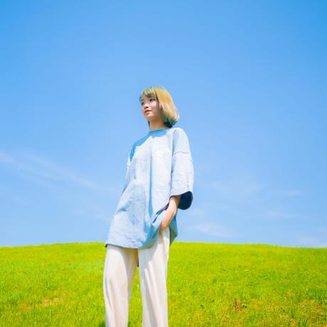"""TOGENKYO"" Big silhouette T-shirts 【Blue】"