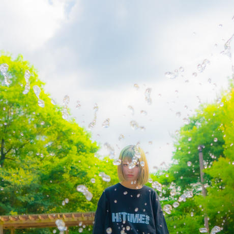 "【Reflector】""Hi TiME Hi TRIP"" Big silhouette T-shirts"