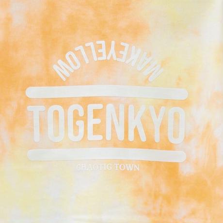 """TOGENKYO""【Valencia Orange】 Big silhouette Tie dye T-shirts"
