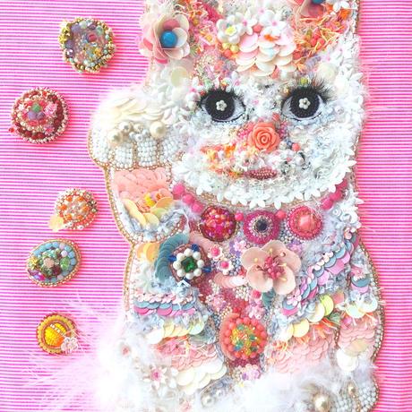ビーズ 刺繍アート The Lucky Cat  招き猫