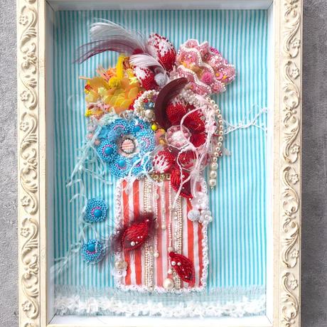 """刺繍 ビーズ 花   """"La Vie en Fleurs"""" お花のある暮らし"""