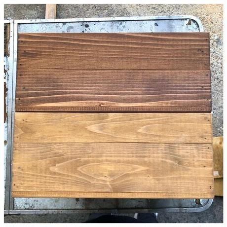 オーダー専用アイアンと木箱のドロワー 1列4段 (T111 D50 W45)
