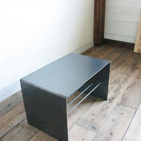 2WAYサイドテーブル 黒皮仕上げ