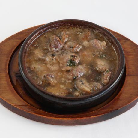 砂肝とマッシュルームのアヒージョ