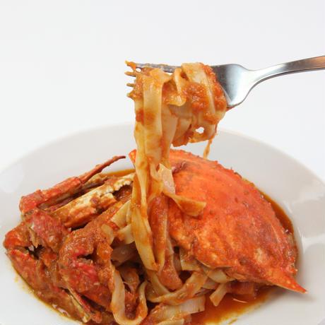 丸ごと1匹使用 ワタリ蟹のトマトクリームソース モチモチ生パスタ付き