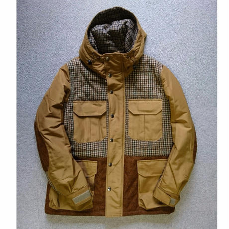 makufuri  Mix Tweed Mountain Parka 〈Beige〉