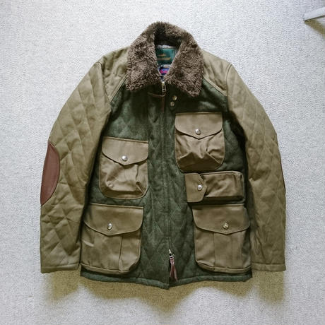 makufuri Melton Field Jacket〈Green〉