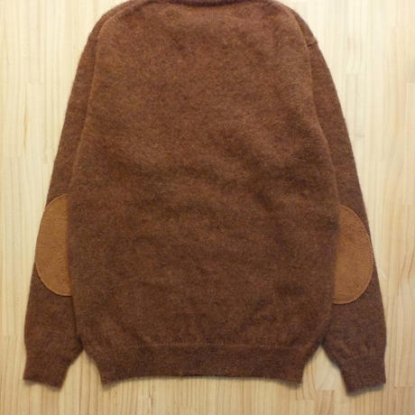 makufuri PLAIN SHAGGY DOG CREW KNIT<wood>