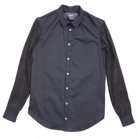 SHOKI JOETAKI piano key shirts 袖シルク切替 ピアノキーシャツ