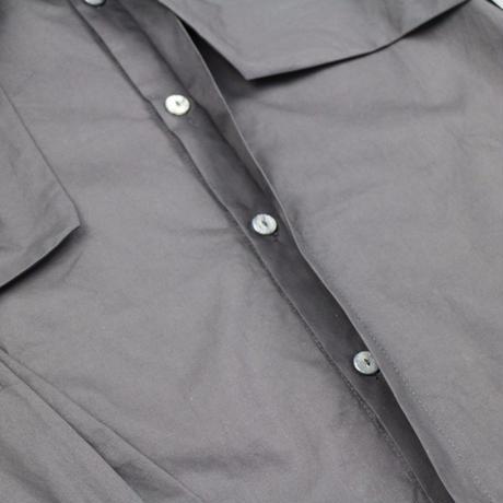 ボウノット フライフロント スリムフィットシャツ