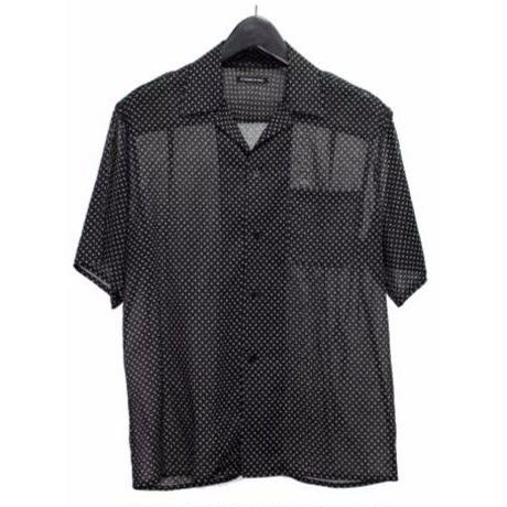 PETHIDINE IN PEARL フラワードット 半袖 シースルーシャツ