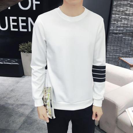 フォーラインプリント スウェットシャツ ホワイト