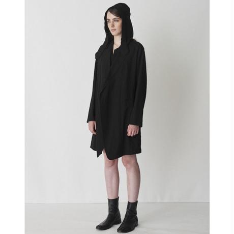 maison de F Jacket Detail Dress オーバーサイズフィット フードロングジャケット