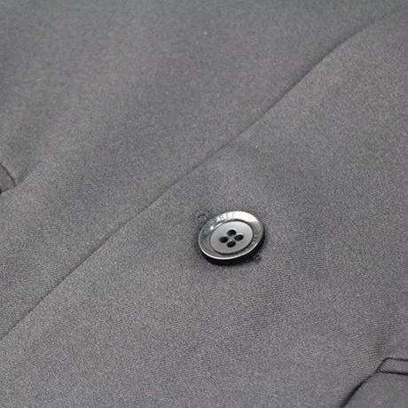 スリム ロング丈 ノーカラージャケット