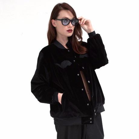 SHOKI JOETAKI D.comma-shaped bead jacket ディ・コンマシェイプドビーズ ベロアジャケット
