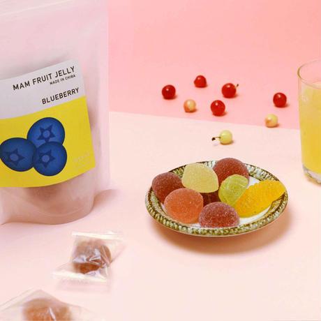 MAM FRUIT JELLY:ブルーベリー/レモン/ミカン/モモ/マスカット