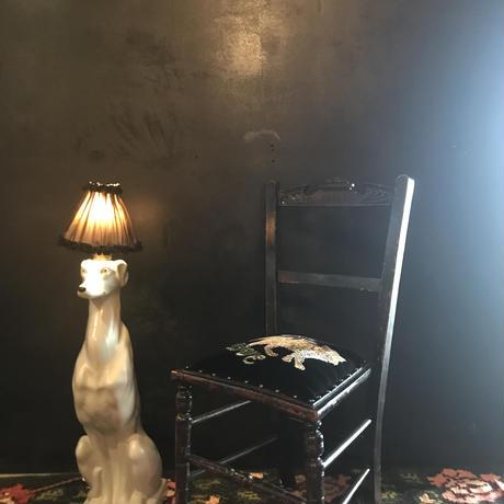 白猫の黒椅子