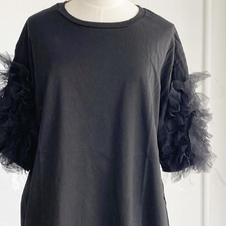 チュール Tシャツ ブラック
