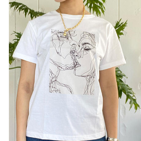 キッスアート💋T shirtホワイト