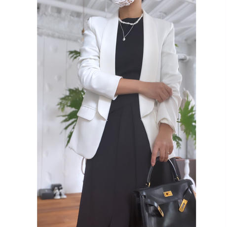 スタイリッシュジャケットへちまカラーホワイト